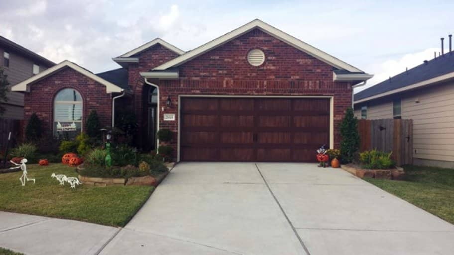 Be leery of garage door companies that offer a lifetime spring, as springs have a limited life cycle. (Photo courtesy of Garage Door Doctor of Cypress, Texas)