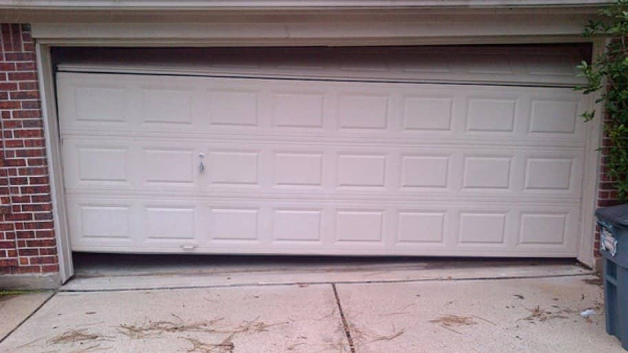 crooked garage door