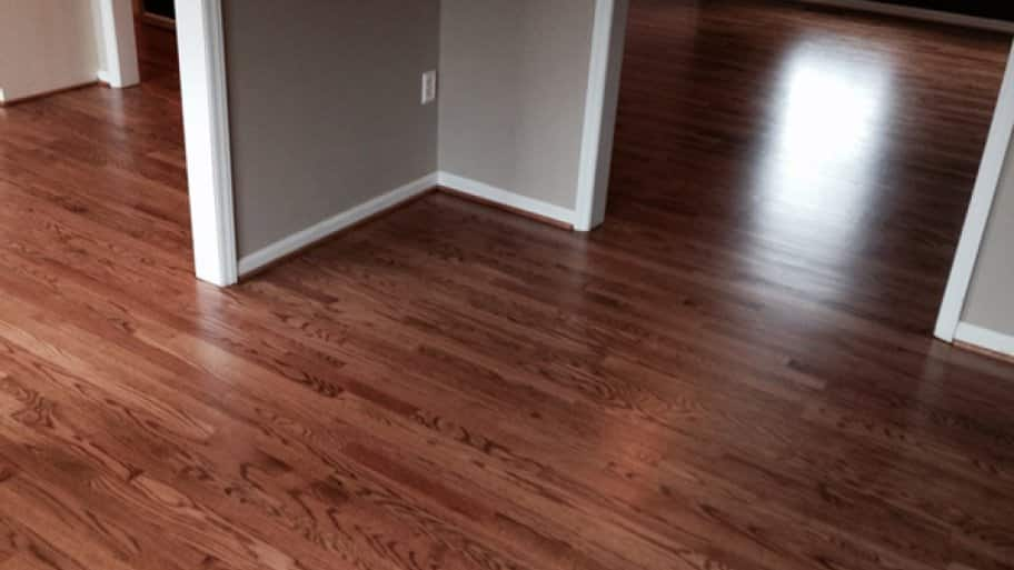 The best way to keep your wood floors in great shape is to sweep or vacuum daily to minimize the amount of debris that could become worn into the finish, says VanAuken. (Photo courtesy of Angie's List member Charles G. of Hollins, Va.)