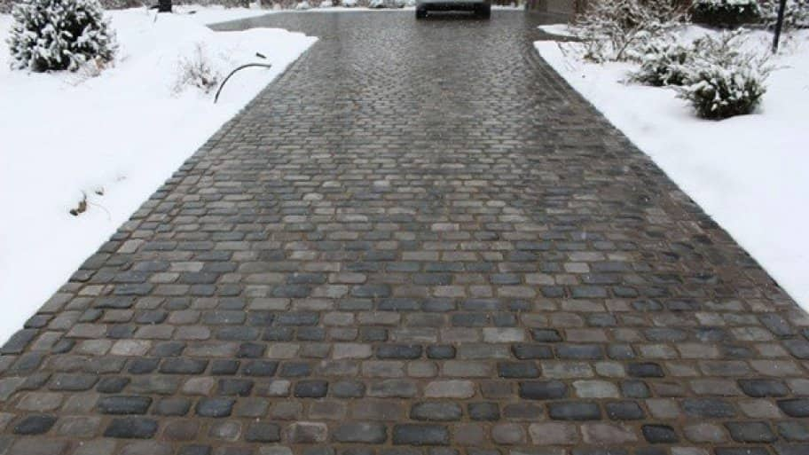 pavers allow easy access to problem areas if something goes wrong with a heated driveway system