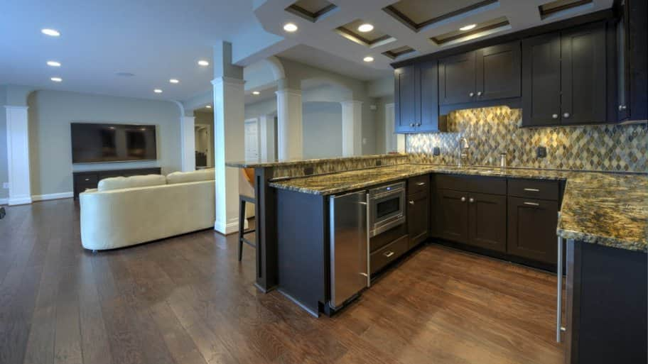 Great In Law Suite, Finished Basement, Kitchen, Wood Floors Photo Gallery