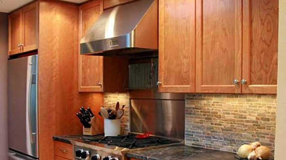 Remodeled Kitchen With Custom Cherry Cabinets