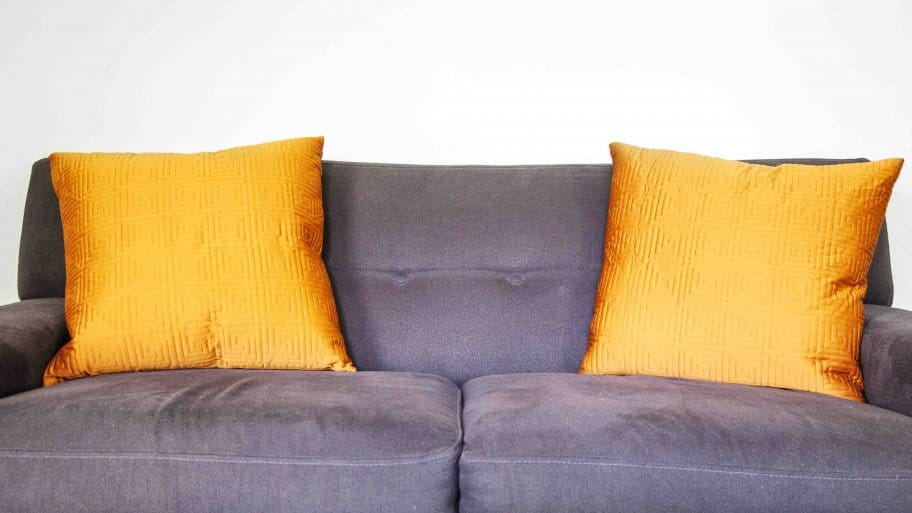Microfiber Couch And Pillows
