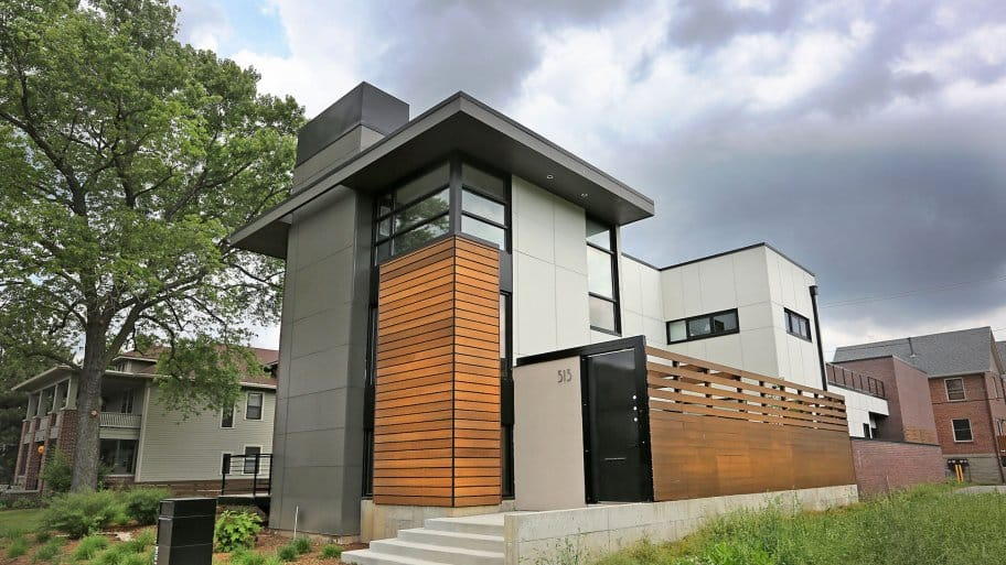 Modern Home With Flat Roof