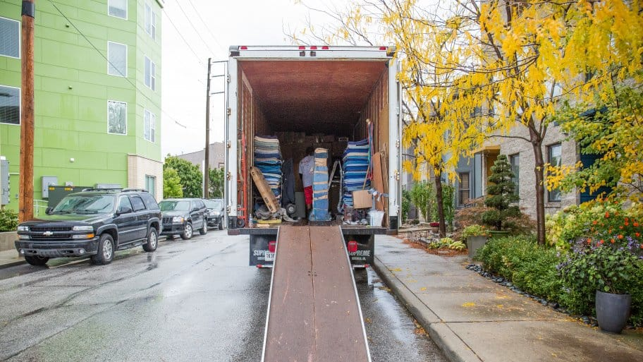 moving truck with ramp