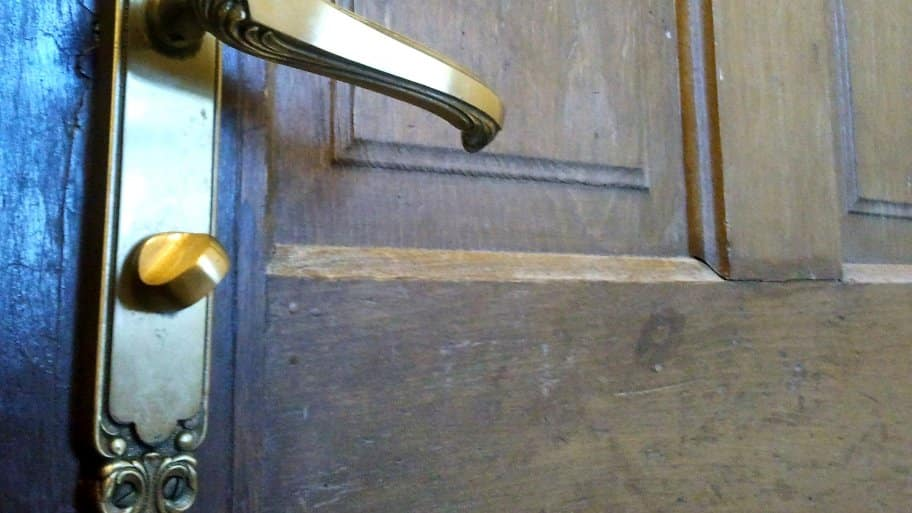 This privacy door knob allows the homeowner to lock the door from the inside only. (Photo by Angie's List)