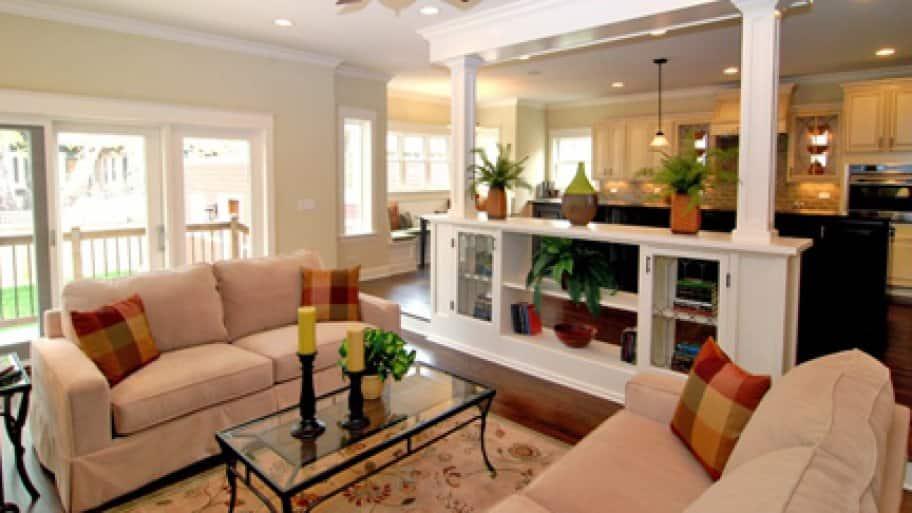 open floor plan remodel brighten dark room