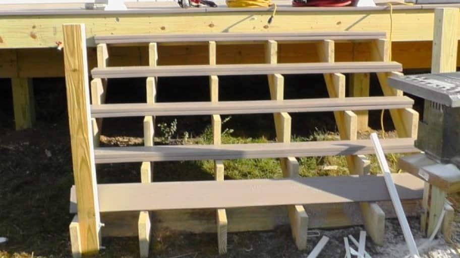 how to install deck stairs