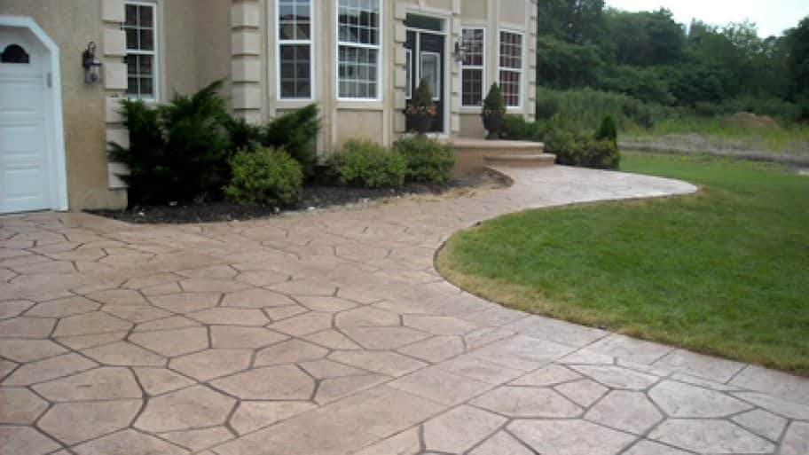 Stamped Concrete Driveways : Driveways angie s list
