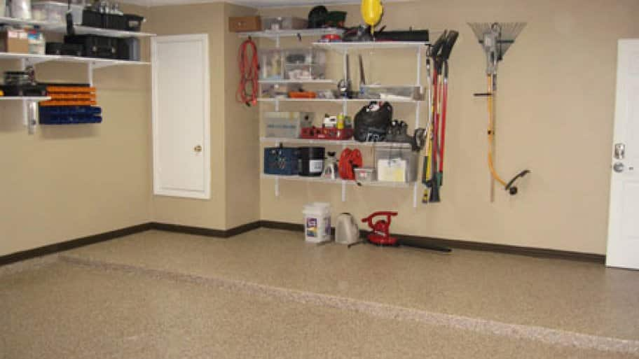 Epoxy paint is an excellent choice for garage floors because it's easier to keep clean.