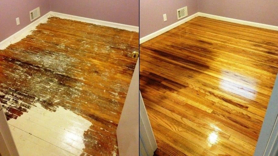 When This Member Ripped Up Carpet, This Is What The Floor Looked Like. After