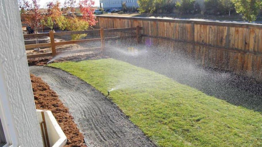 A properly working sprinkler system will nourish the lawn. (Photo courtesy of Aaron Curtis)