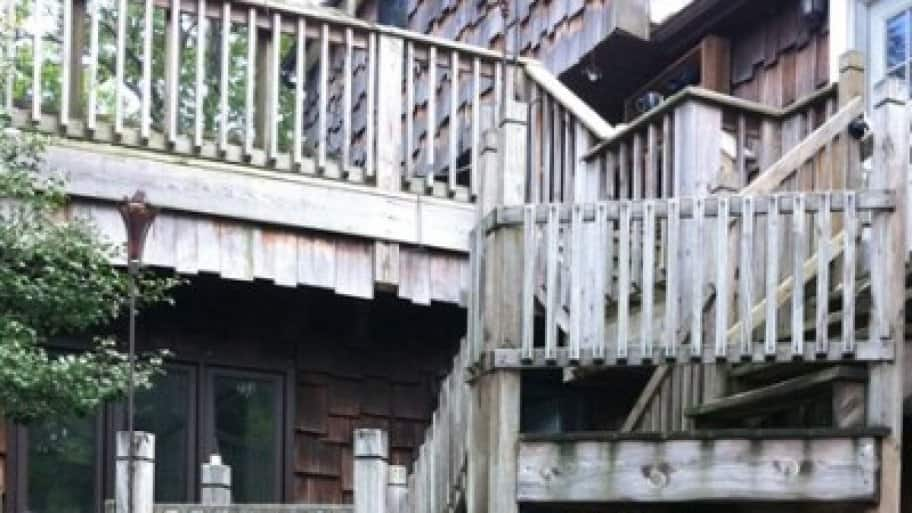 A weathered deck not only looks tired, but may pose some dangers if the wood starts to split. (Photo courtesy of Angie's List member Brian W. of West Milford, N.J.)