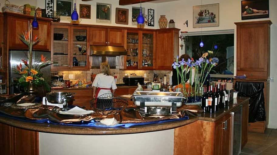 chef working in home kitchen