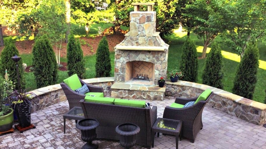 Outdoor Fireplaces And Fire Pits. Outdoor Fireplaces Can Be The Focal Point  Of Your Backyard Entertianing Area. (Photo Courtesy