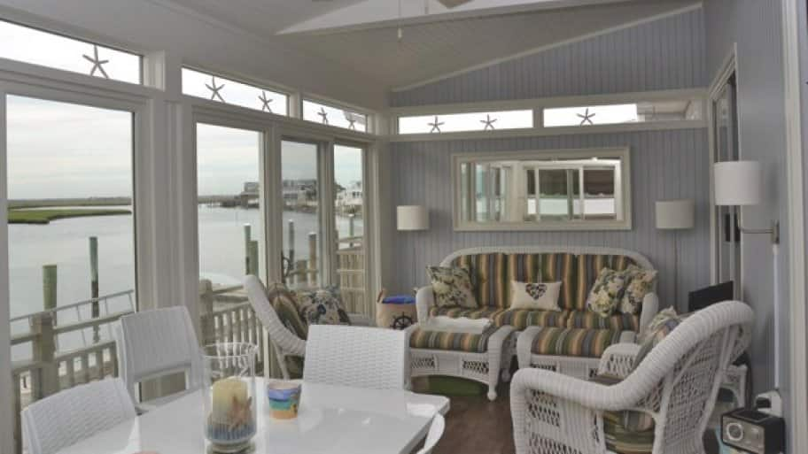 The sunroom was renovated after damage caused by Superstorm Sandy. (Photo courtesy of Angie's List member Donna S. of Philadelphia)