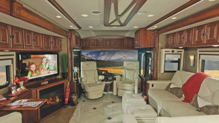 Travelers rank the living space, bathroom layout and kitchen accessibility among the most important features of RV. (Photo by Winnebago Industries)