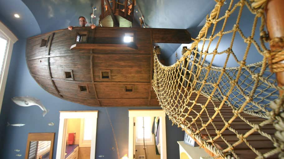 pirate ship bedroom room makeovers inspired by bright ideas angie s list 12909