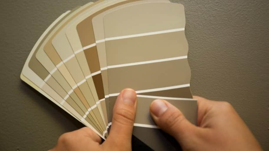 You only need about a 1-inch square of the original paint color to make a match. (Photo by Eldon Lindsay)