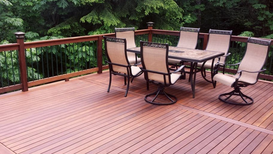 Finding a local deck builder to give you the perfect space for entertaining requires planning, interviewing and more. (Photo courtesy of Angie's List member Cathryn B. of Monroe, Wash.)