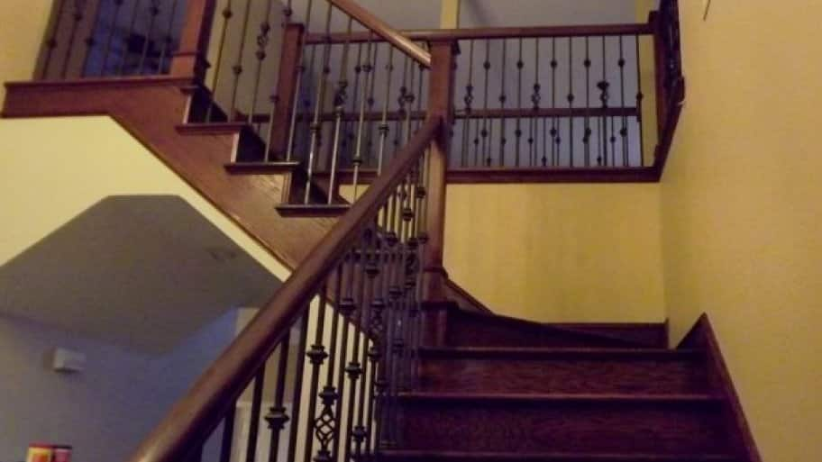 The Pro This Member Hired Hand Stained The Entire New Bannister And Steps  After Adding