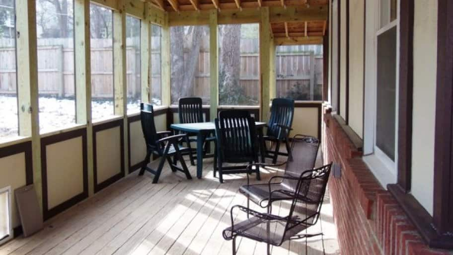 Porch vs. Deck | Angie's List on screen rooms for mobile homes, awnings for mobile homes, types of skirting for homes, garages for mobile homes, lake view mobile homes, kinro windows for mobile homes, vinyl windows for mobile homes, roofing for mobile homes, siding for mobile homes, enclosed sunrooms for mobile homes, patios for mobile homes, bay windows for mobile homes, enclosed additions for mobile homes, enclosed decks on mobile homes, french doors for mobile homes, trailers for mobile homes, decks for mobile homes, wood stoves for mobile homes, covered porches for manufactured homes, country porches on mobile homes,